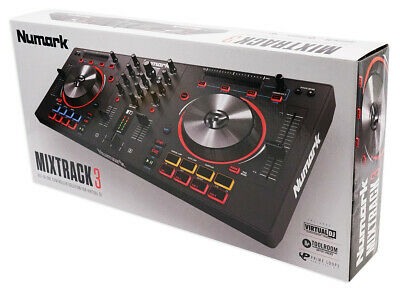 Numark - Mixtrack 3 - All-in-one  DJ Controller Solution for Virtual DJ