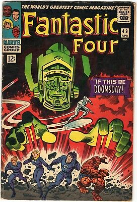 Fantastic Four #49 VG 4.0 1st Full app. of Galactus 2nd Silver Surfer Marvel