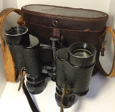 Vintage Military Binoculars 8 X 26 Made In France, Provenance In Case WW1