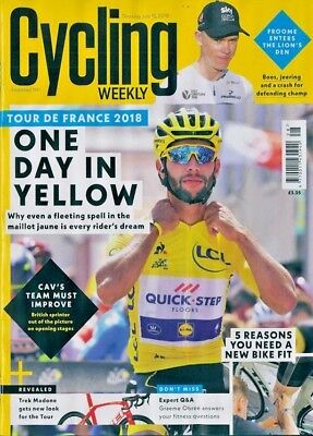 CYCLING WEEKLY MAGAZINE 12th JULY 2018 TOUR DE FRANCE 2018 ~ NEW