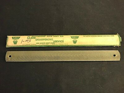 Vintage Auto Body Lead Float Shapers Curved File
