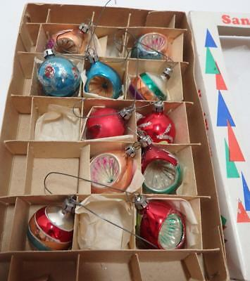 Vintage of Poland Mini Indent Christmas Ornaments nice condition