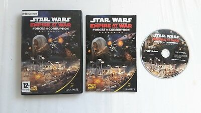 Star Wars Empire At War Forces Of Corruption Pc Cd Dvd Game Excellent Condition