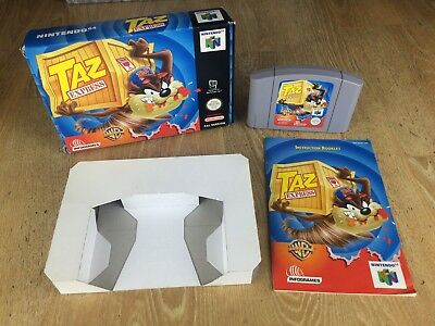 Taz Express N64 Boxed with Manual, Complete, Rare CIB. Nintendo 64 Game