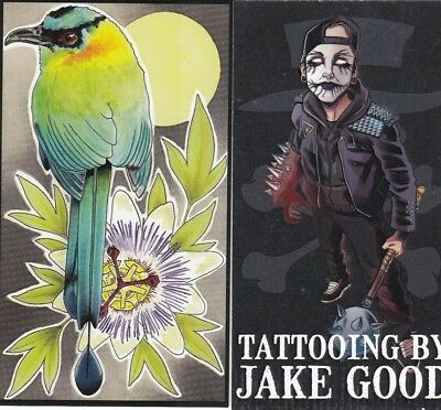 Tattoo Business Card for Collector 16 - Bird & Spooks
