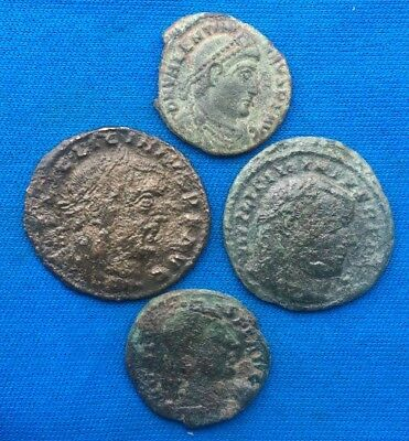 Lot Of 4 Ancient Roman  Coins