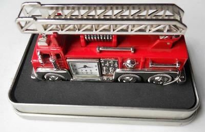 RELIC FIRE TRUCK Desk Clock Paper Weight