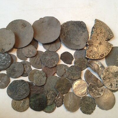 lot 48 anciente coins -  middle age  - bronze - silver