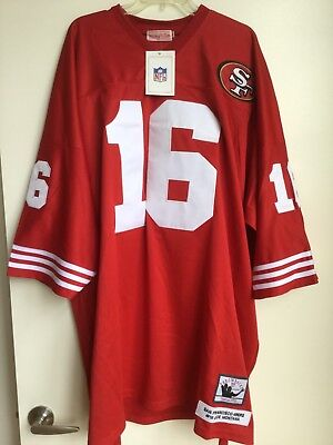 official photos fead4 5bfcf MITCHELL & NESS Throwback Joe Montana San Francisco 49ers Red Jersey Sz 60  New