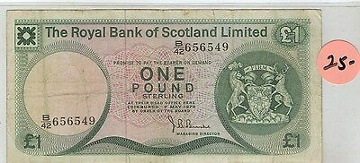 Royal Bank Of Scotland Limited 1981 1 Pound circulated COLLECTOR BANKNOTE