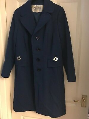 vintage coat jacket Eastex 14 navy great condition