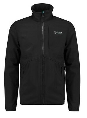 Mercedes F1 Softshell Jacket Black NEW 2018 Mens Medium