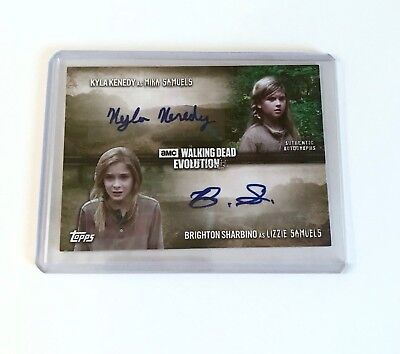 Topps Walking Dead Evolution 2017 Dual Autograph - Mika and Lizzie Samuels, 5/10