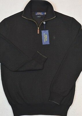 Polo Ralph Lauren Sweater Pima Cotton Half-Zip Charcoal XL NWT $99