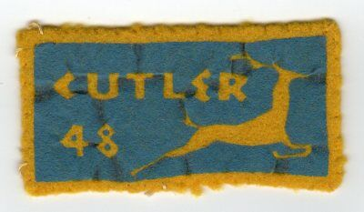 Boy Scout 1948 Camp Warren Cutler rare felt patch Otetiana Council, NY