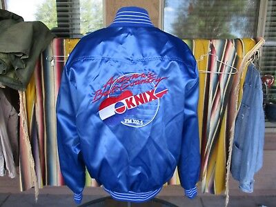 Vtg 1980s 90s KNIX 1025 Country Music Radio Station Concert Tour Jacket XL