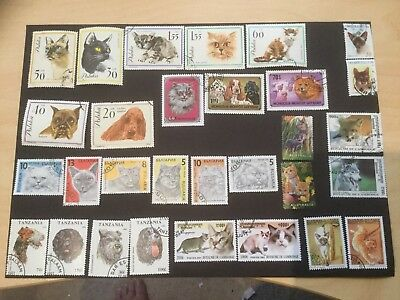 30 Cats And Dogs Themed World Stamps / No Duplicates / Part And Full Sets
