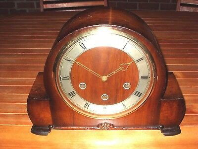 Lovely Vintage Smiths 8Day Westminster Chime Mantle Clock In Good Working Order.