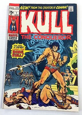 KULL THE CONQUEROR #1 ~ 1971 Marvel Comics - Roy Thomas! Stan Lee! Ross Andru!