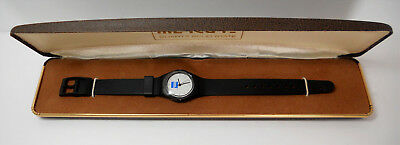 New American Express Lady's Wristwatch and Case Black Band and Body Amex Logo