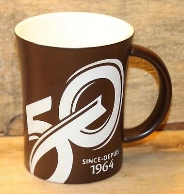 Tim Hortons Limited Edition 2014 50th Anniversary Collectors Coffee Mug Brown +