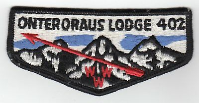 Boy Scout OA Onteroraus Lodge 402 S5b flap Otschodela Council, NY