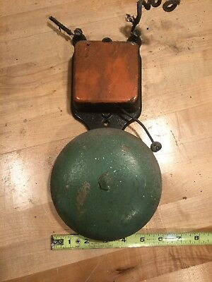 "Antique 6"" Gong Fire Alarm Bell 6 Volts DC"
