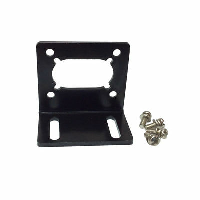 1PCS L-Type Mounting Bracket Holder Motor Base Black For 370/495 Worm Gear Motor