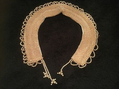 Vintage 1950's faux pearl collar hand made by Baar E Beards of Japan