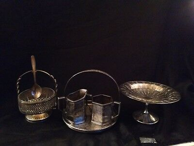 Antique Silver Plate Serving Dishes