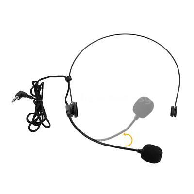 Uni-Directional Head-mounted Headworn Headset Microphone Mic Flexible Wired W3D6