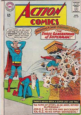 Action Comics #327 Superman & Supergirl 1965 Silver Age Key Issue