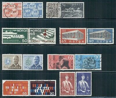 NORWAY 523-24,526-29,531-32,533-34,535-36,545,547,549 SG623-43 Used 1969 Cat$16
