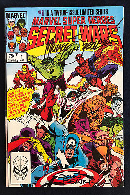 Secret Wars #1 to #5 all signed by John Beatty, some by Mike Zeck
