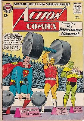 Action Comics #304  Superman & Supergirl 1963 Silver Age Key Issue