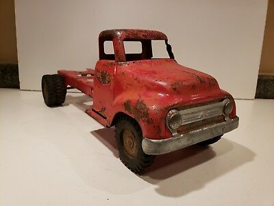 1950'S TONKA TRUCK Cab Long Frame for restoration or custom