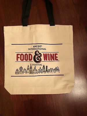 Disney EPCOT 2018 Food and Wine Festival  Tote Bag NEW