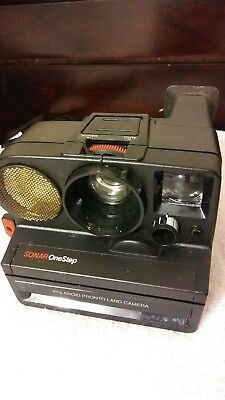 Polaroid Sonar One Step Pronto Land Camera With Film Instant Not Tested