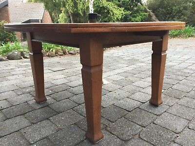 Antique oak dining table, approx 1340mm x 730mm