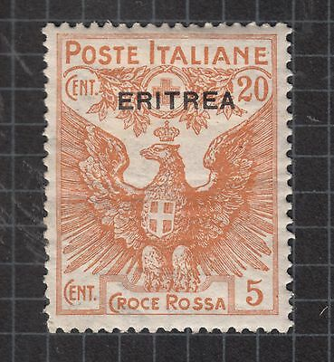 ERITREA 1916 20c + 5c MINT HINGED