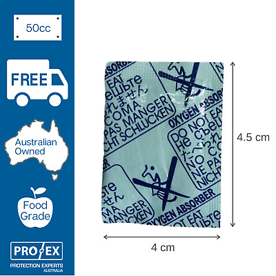 Oxygen Absorber 50cc - 200 units (1 x packet)