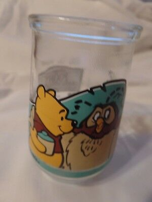 VTG Disney Winnie the Pooh And Owl Welch's Jelly Jar Juice Glass