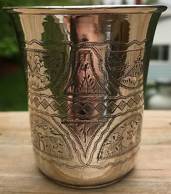 Antique 1873 Sterling silver wine cup (4.5 OZ)-RUSSIAN SILVER- SHABBOS-Wonderful