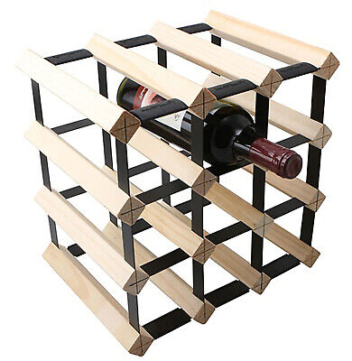 Bottle Timber Wine Rack 12 Bottle Natural Wood Storage Solution Cellar Organiser