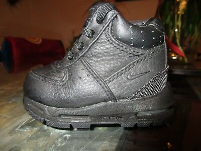 60dc07c4e50b Nike Air Max Goadome Toddlers ACG Leather Snow Boots SIZE 4C Black  311569-001