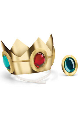 Brand New Super Mario Brothers Princess Peach Crown and Amulet Accessory