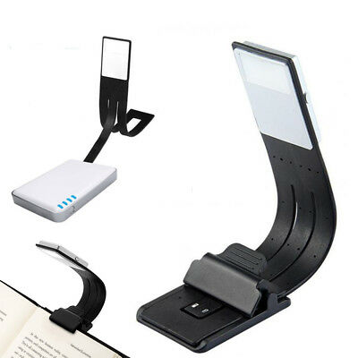 USB Rechargeable LED Reading Book Light With Flexible Clip Reading Lamp New.