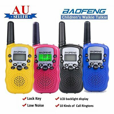 2X Mini Walkie Talkie For Child Kids Toy 3-5km range UHF Two Way Radio Outdoor