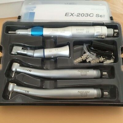 Dental Handpieces Set High and Low Speed (EX-203C + Pana-Max)  Wrench Type 4H