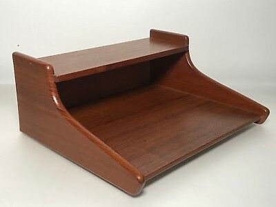 VINTAGE Danish Modern SOLID TEAK Floating NIGHTSTANDS Mid Century DENMARK